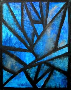Icicles - abstract oil pastel drawing | Media: oil pastel ...