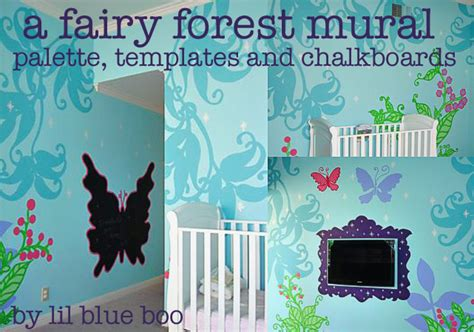 fairy forest mural  butterfly template