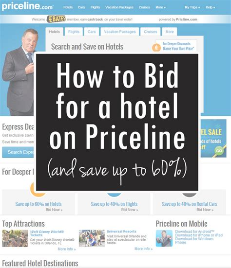 Priceline Bid by How To Bid For A Hotel On Priceline Everyday Reading