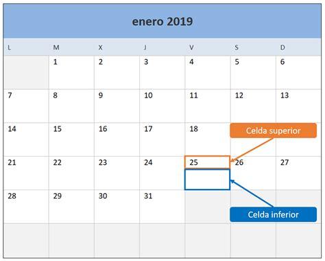 Calendario 2019 En Excel. Plantilla Gratis Y Lista Para