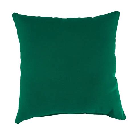 Square Pillows by Manufacturing Sunbrella Canvas Forest Green Square