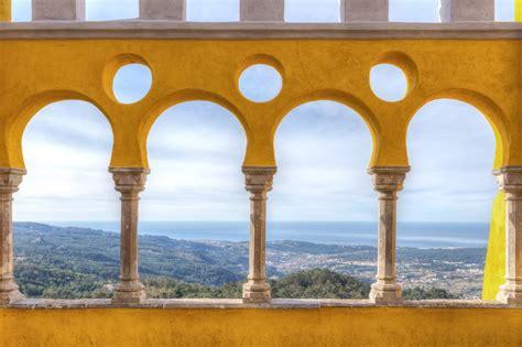 balcony view  castle pena sintra portugal custom