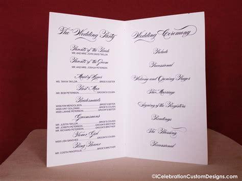wedding bulletins templates printable calligraphy wedding program icelebration