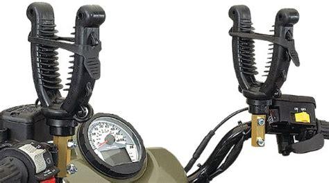 atv gun rack coleman single fin grip 174 pro handlebar racks motorcycle