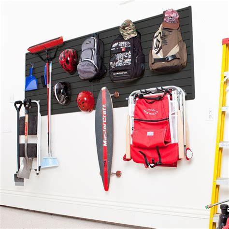 Garage Wall Systems by Flow Wall Modular Garage Wall Panel Set With Storage Hooks