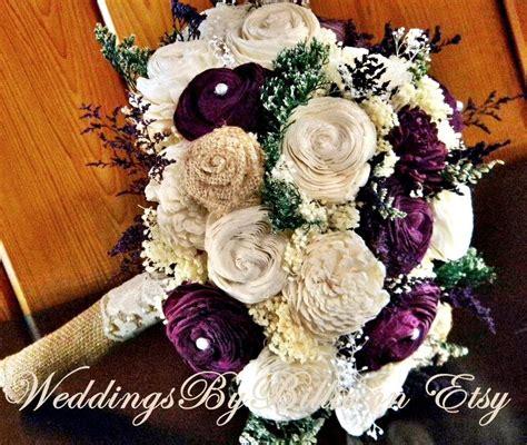 fall bouquets fall wedding burlap laceplum sola bouquet