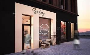 bakery, shop, storefront, mockup, stock, illustration