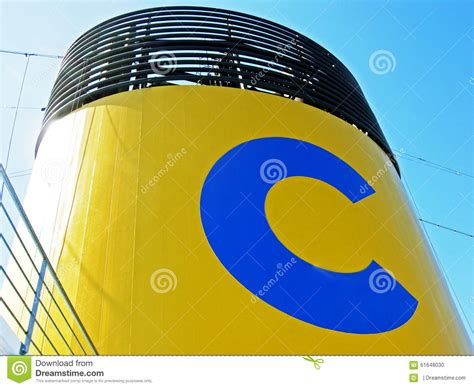 Funnel Of A Cruise Ship Of Costa Cruises Editorial Image ...