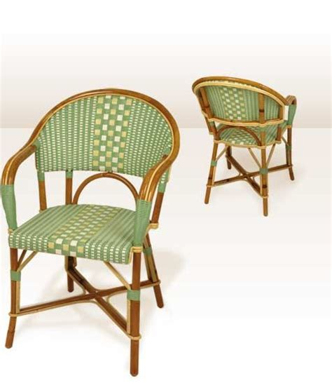 collection fauteuils tradition en rotin chaise bistrot