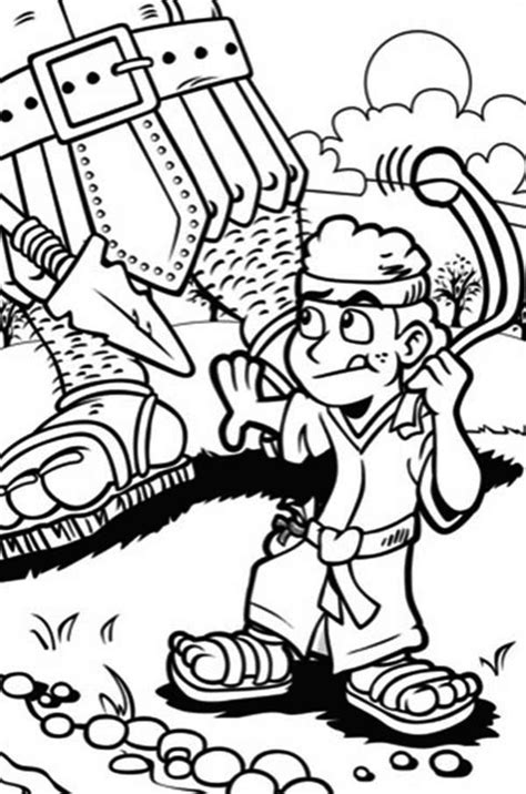 printable coloring pages david  goliath coloring