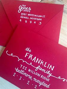 Hand lettered envelope with return address on back flap for Hand lettered envelopes
