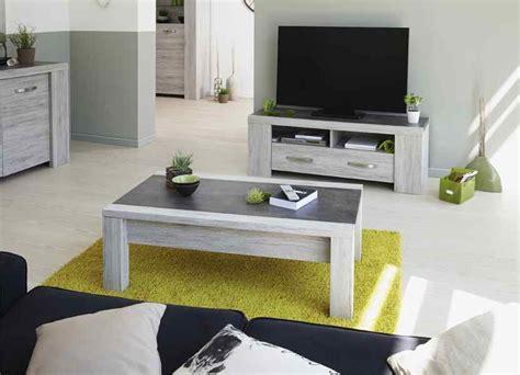 caisson sous bureau meuble tv en couleur bois gris contemporain 135cm malone
