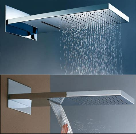 Brushed Brass Kitchen Faucet by 22 Quot Dualshower Waterfall And Rainfall Function Shower