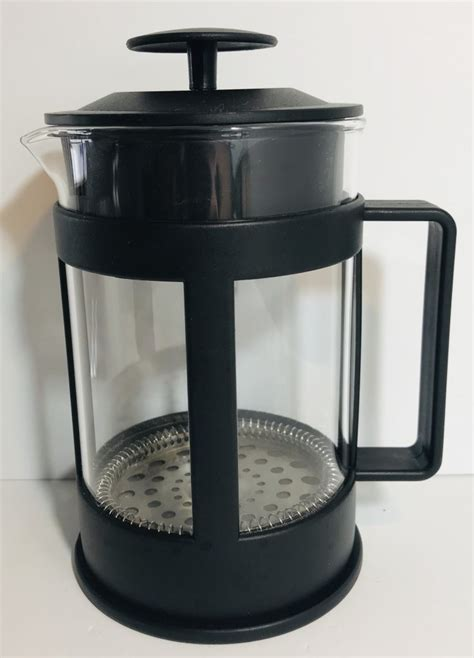 Home beverages coffee tipu organics coffee plunger 350g. Black_Coffee_Plunger_1 - Dove Hospice Shop