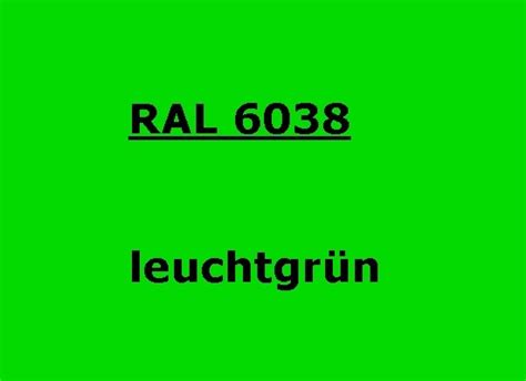 Neon Grün Wandfarbe by Ral 6038 Leucht Gr 252 N Glatt Gl 228 Nzend