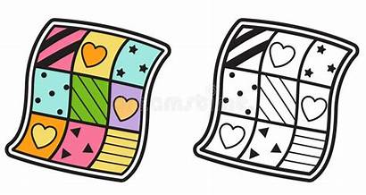 Quilt Clipart Colorare Colorful Libro Isolated Coloring