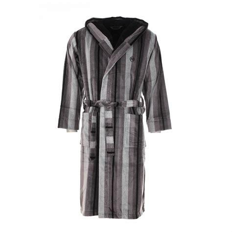 robe de chambre en velours peignoir éponge mariner é gris à capuche extérieur en