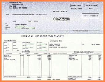 check stubs maker bank statement