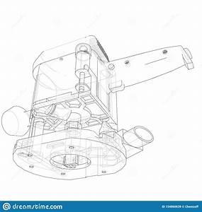 Sketch Lathe Machine Drawing