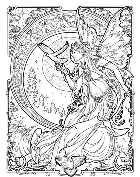 challenging coloring pages for adults of dreams goddess challenging coloring pages for