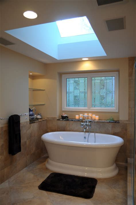 Traditional Master Bath with Free standing Tub