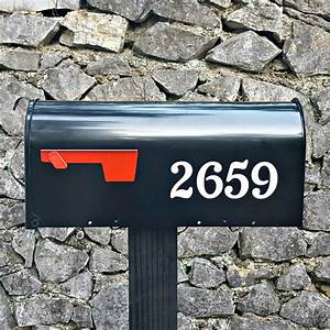 chatelaine traditional style custom mailbox numbers With mailbox letters numbers
