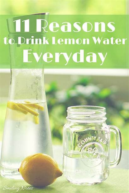 Water Drink Lemon Everyday Reasons