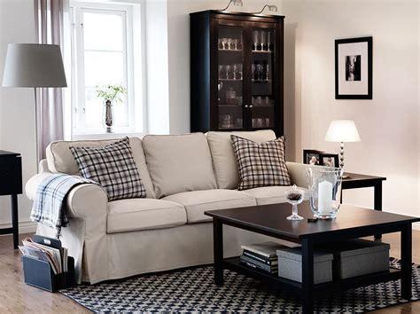 sofa 3 plazas ektorp sof 225 de 3 plazas ektorp con funda tygelsj 246 beige y mesas