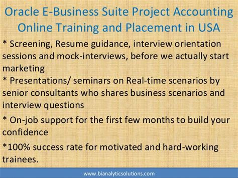 oracle  business suite project accounting  training