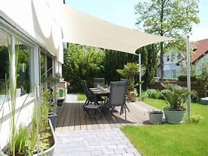 Terrassen Treppen In Den Garten : moderne beschattung f r ihre terrasse ein sonnensegel nach ma ~ Orissabook.com Haus und Dekorationen