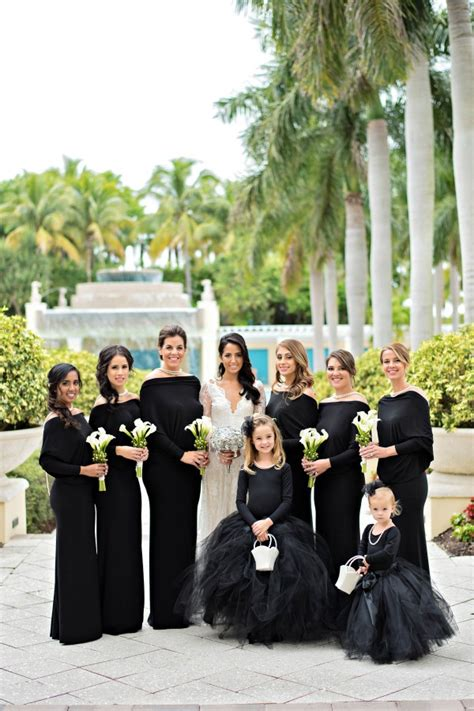 black  white wedding  hyatt regency coconut point