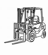 Forklift Coloring Pages Drawing Colouring Illustration Construction Template Hand Machines Printable Drawn Result Tractor Google Clipartmag Sketch Preview sketch template