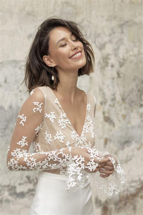 Glamorous Lace Wedding Jumpsuits Long Sleeves Bride ...