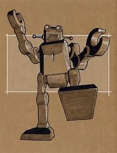 Retro Robot Rampage by rsandberg on DeviantArt