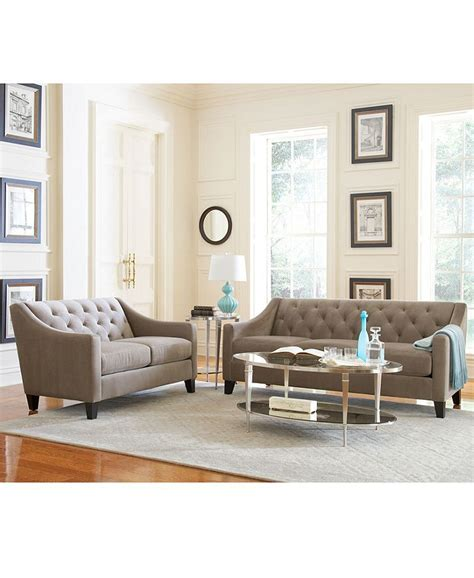 macys living room furniture 2 fabric velvet metro sofa living room furniture 13030