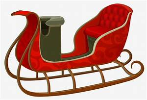 Sled Creative Cartoon Hand Painted PNG Image And