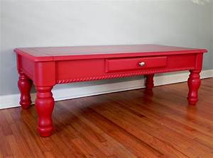 Cherry red coffee table colorful furniture red pinterest for Cherry red coffee table