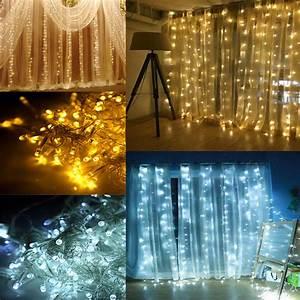 Lichterkette Innen Deko : 3x3m 300led lichtervorhang lichternetz beleuchtung innen au en deko lichterkette ebay ~ Eleganceandgraceweddings.com Haus und Dekorationen