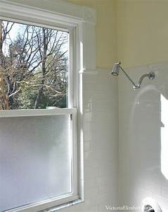 solution to the large window in the shower simple diy With windows for bathroom showers