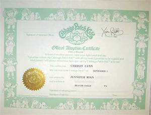 Cartoon babies and births on pinterest for Cabbage patch doll birth certificate