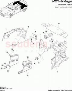 Aston Martin V8 Vantage Body Rear End  Coupe  Parts