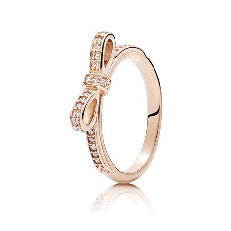 pandora bow ring gold www pixshark images