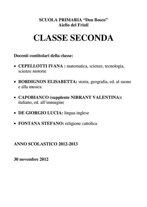 Test Ingresso Scienze Naturali by Calam 233 O Classe Seconda