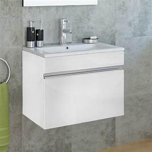 meuble salle de bain 60 cm avec miroir cubo With salle de bain design avec meuble sdb 60 cm