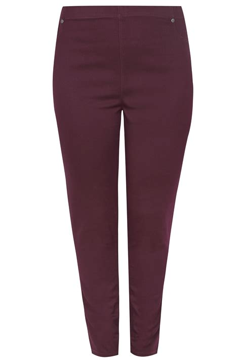 date post jenny template responsive burgundy pull on jenny jeggings plus size 16 to 36
