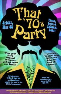 70s Theme Party Flyer