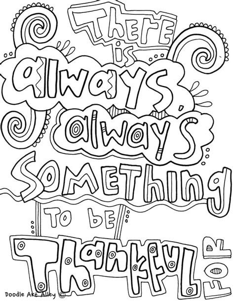 quote coloring pages  doodle art alley quotes