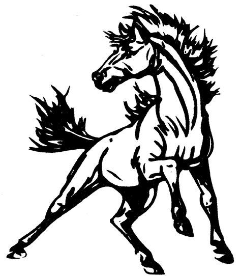 Pin Mustang Horse Coloring Pages On Pinterest