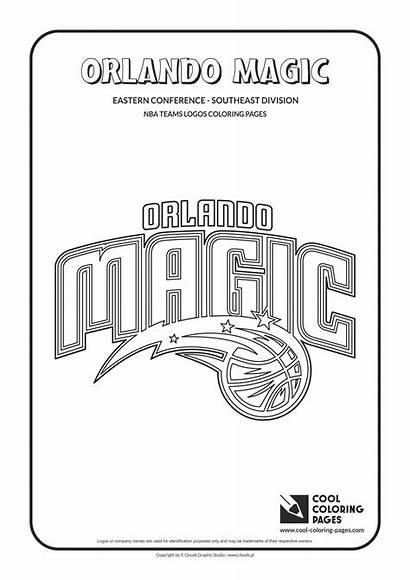 Nba Coloring Pages Magic Orlando Logos Basketball