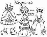 Coloring Pages Dresses Masquerade Doll Barbie Outfit Princess Dressed Printable Colorings Getdrawings Getcolorings Fancy Sheet Garden Coloringsky Dr Pag Getting sketch template